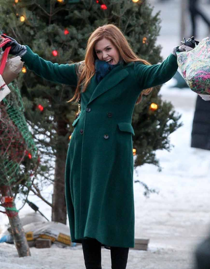 Godmothered-Isla-Fisher-Green-Trench-Coat