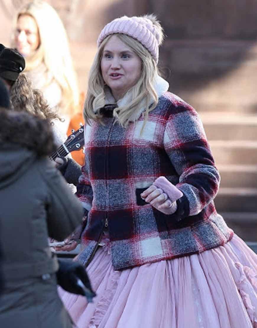 Godmothered-Jillian-Bell-Plaid-Jacket