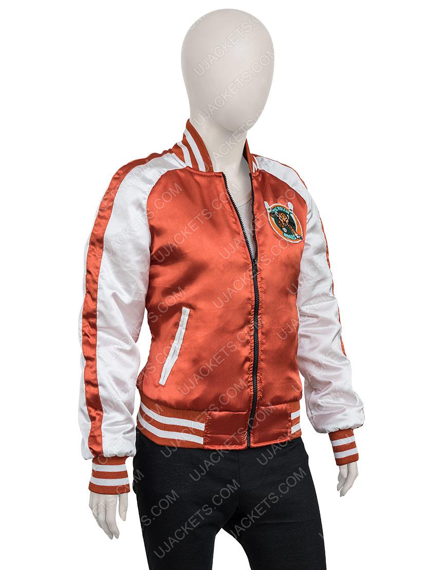 Gunpowder Milkshake Karen Gillan Orange Jacket