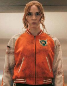 Gunpowder-Milkshake-Karen-Gillan-Orange-Jacket