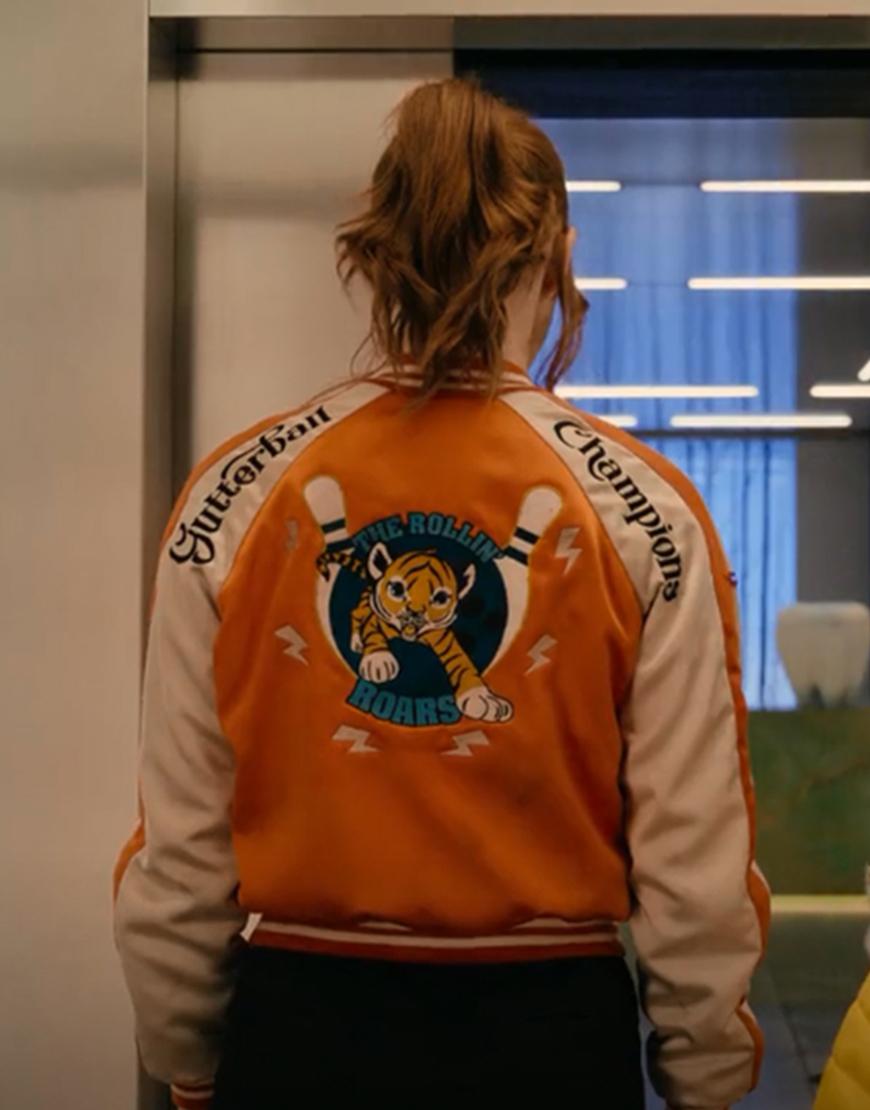 Gunpowder Milkshake Karen Gillan Varsity Jacket