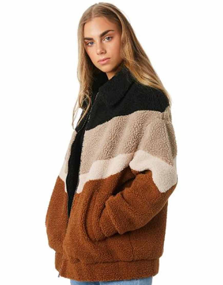 Gwen-Teddy-Brown-Shearling-Jacket
