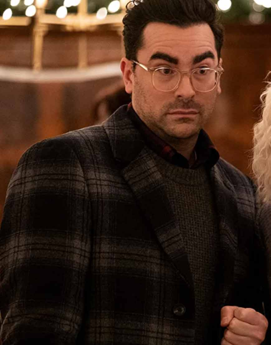 Happiest-Season-Dan-Levy-Checked-Coat