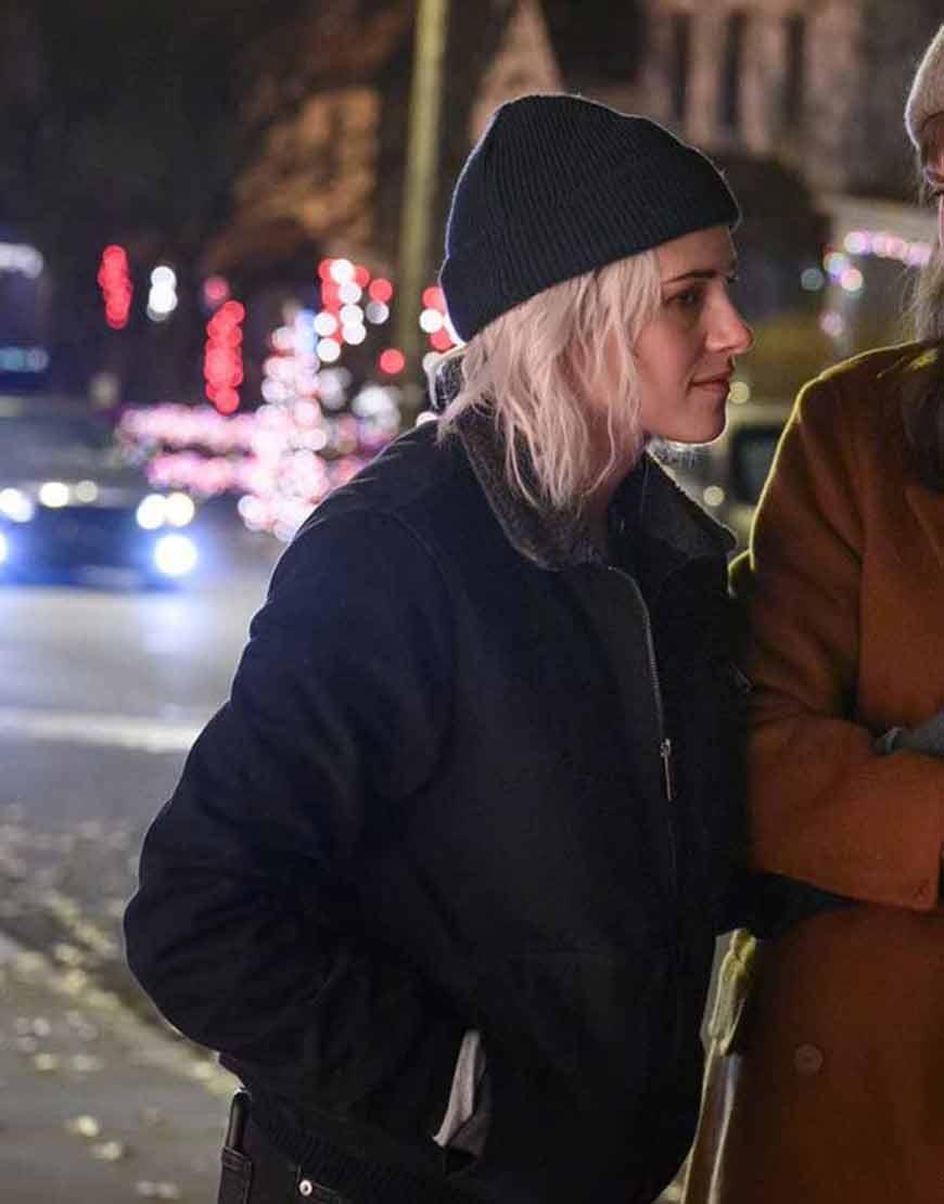 Happiest-Season-Kristen-Stewart-Abby-Black-Jacket
