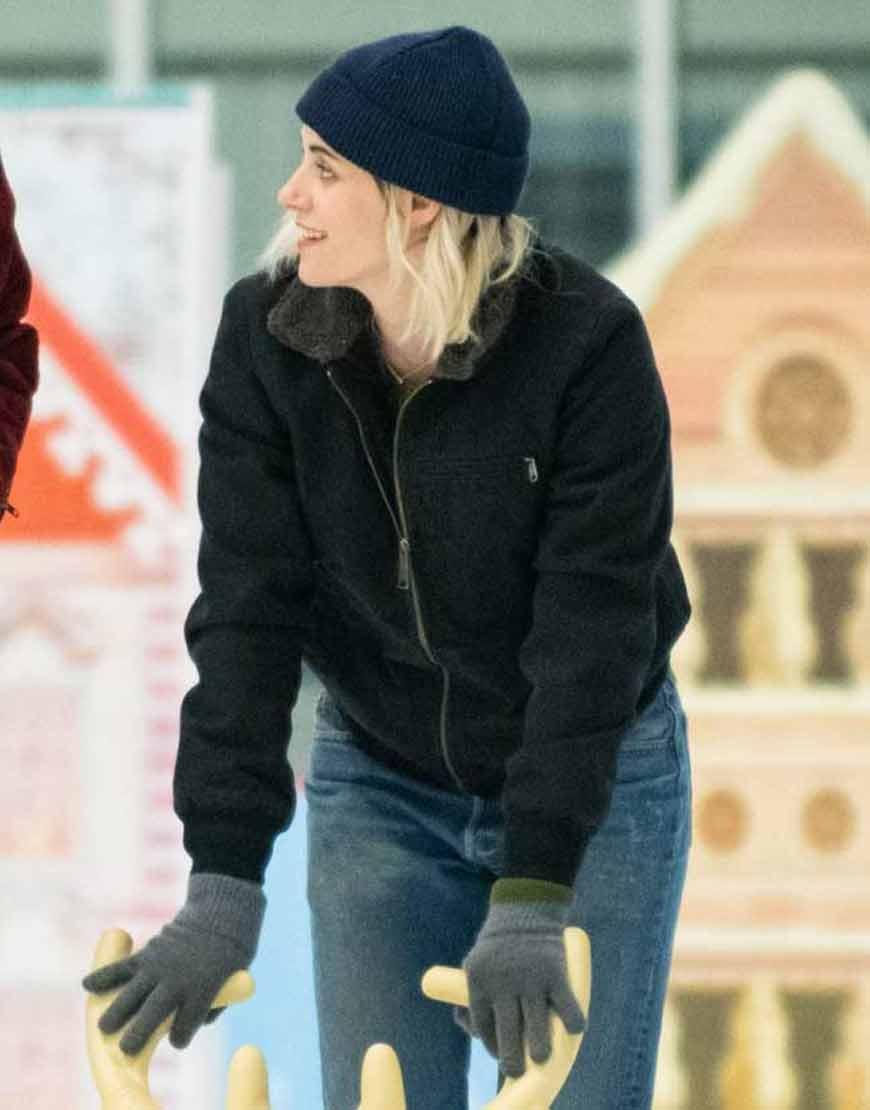 Happiest-Season-Kristen-Stewart-Black-Jacket