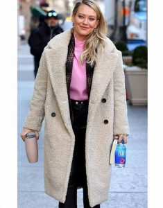 Hilary-Duff-Fur-Shearling-Trench-Coat