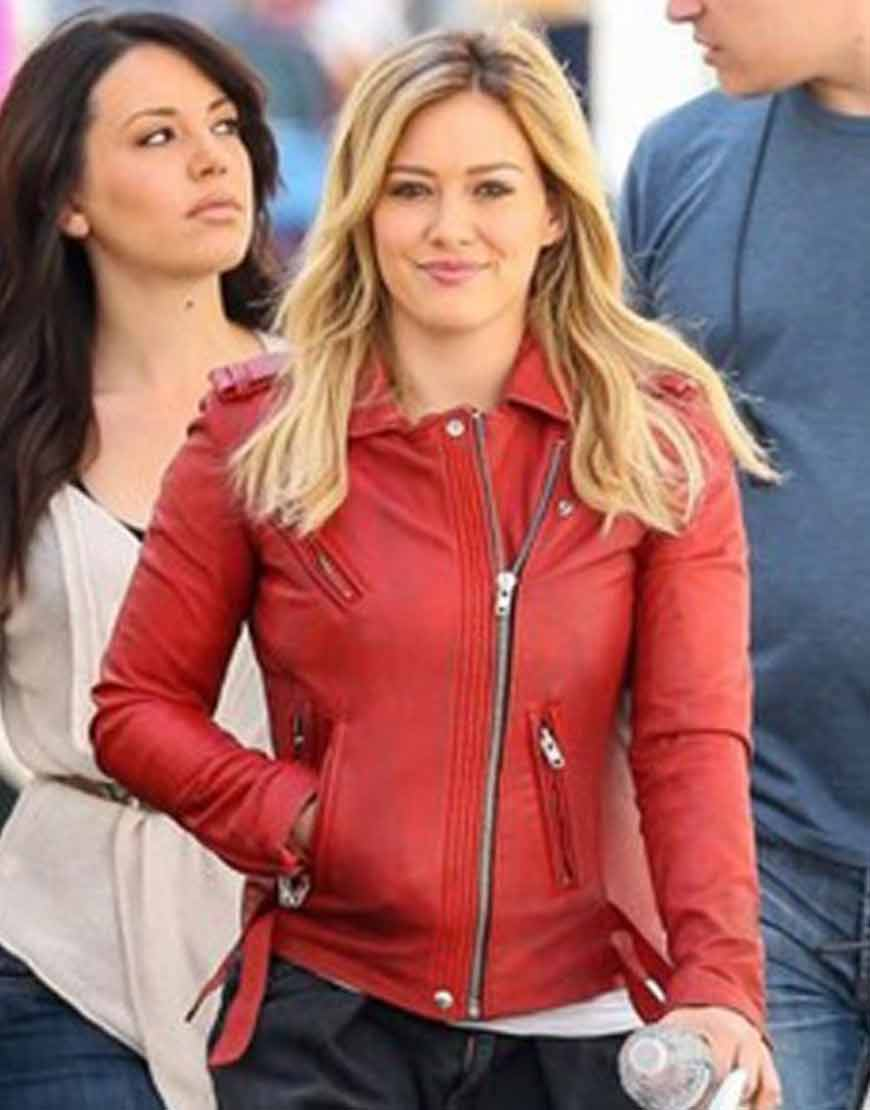 Hilary-Duff-Younger-Kelsey-Red-Leather-Jacket
