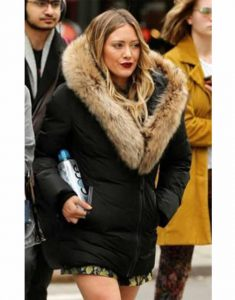 Hilary-Duff-Younger-S07-Kelsey-Peters-Black-Fur-Jacket