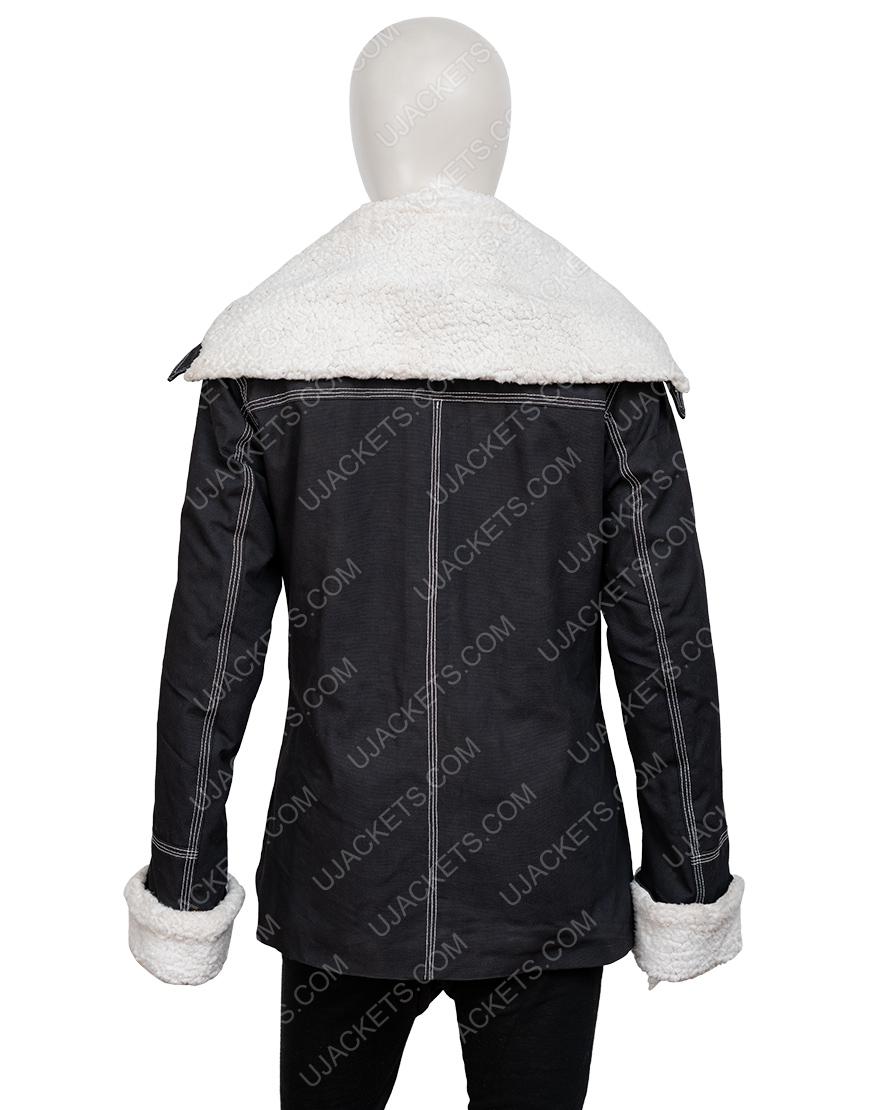 Holidate 2020 Emma Roberts Shearling Jacket