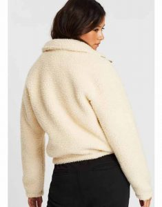Home-and-Away-Courtney-Miller-Shearling-Beige-Jacket