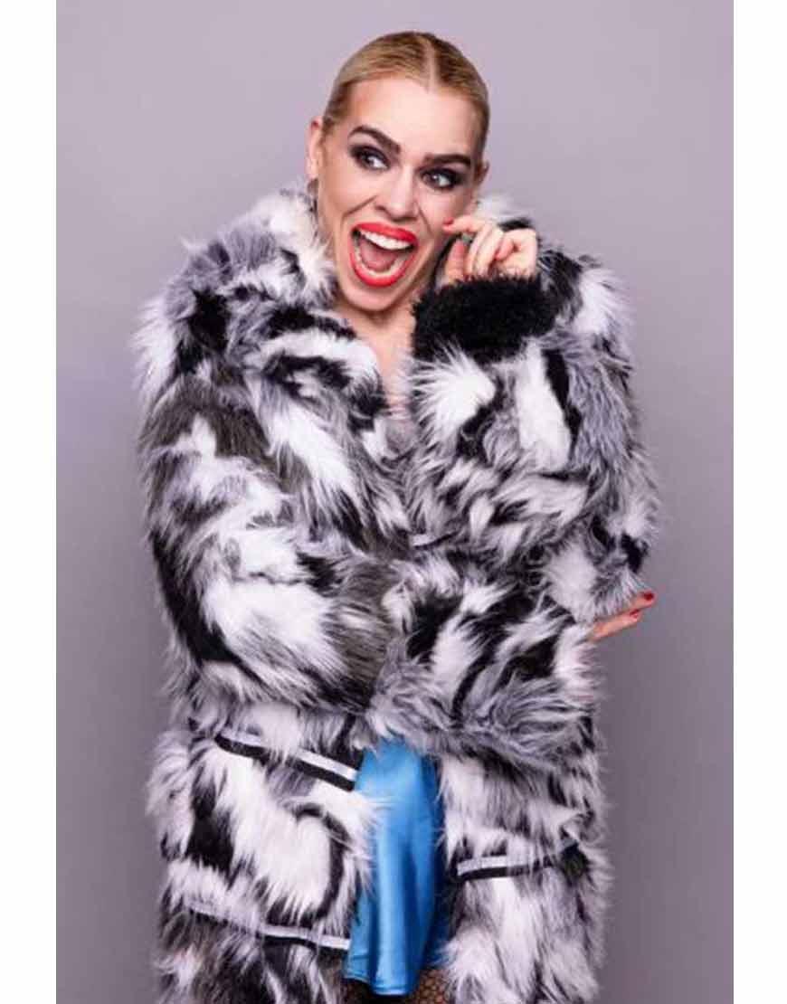 I-Hate-Suzie-Billie-Piper-Black-&-White-Fur-Coat