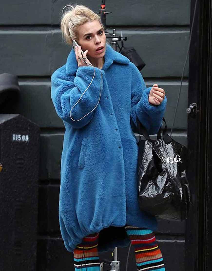 I-Hate-Suzie-Billie-Piper-Blue-Long-Fur-Coat
