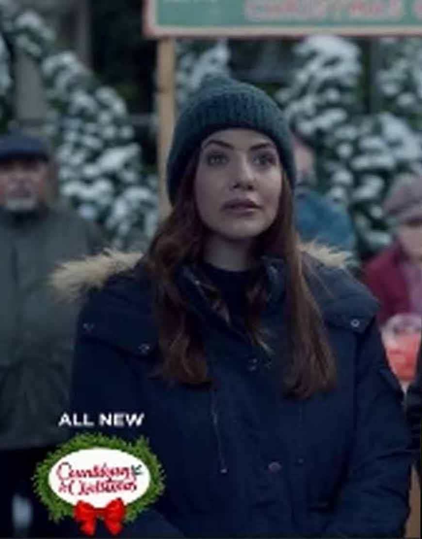 Jingle-Bell-Bride-Julie-Gonzalo-Blue-Hooded-Jacket