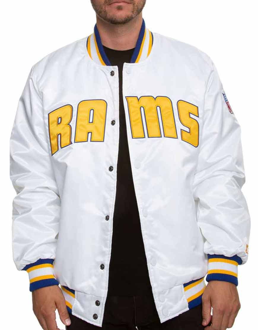 Los-Angeles-Rams-White-Sleeves-Jacket
