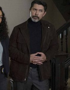 Lou-Diamond-Phillips-Prodigal-Son-Gil-Arroyo-Brown-Suede-Jacket