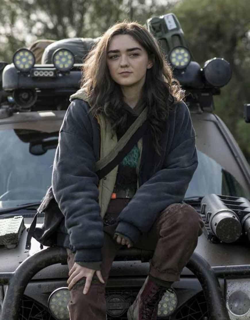 Maisie-Williams-Kim-Noakes-Two-Weeks-Live-Grey-Hooded-Jacket