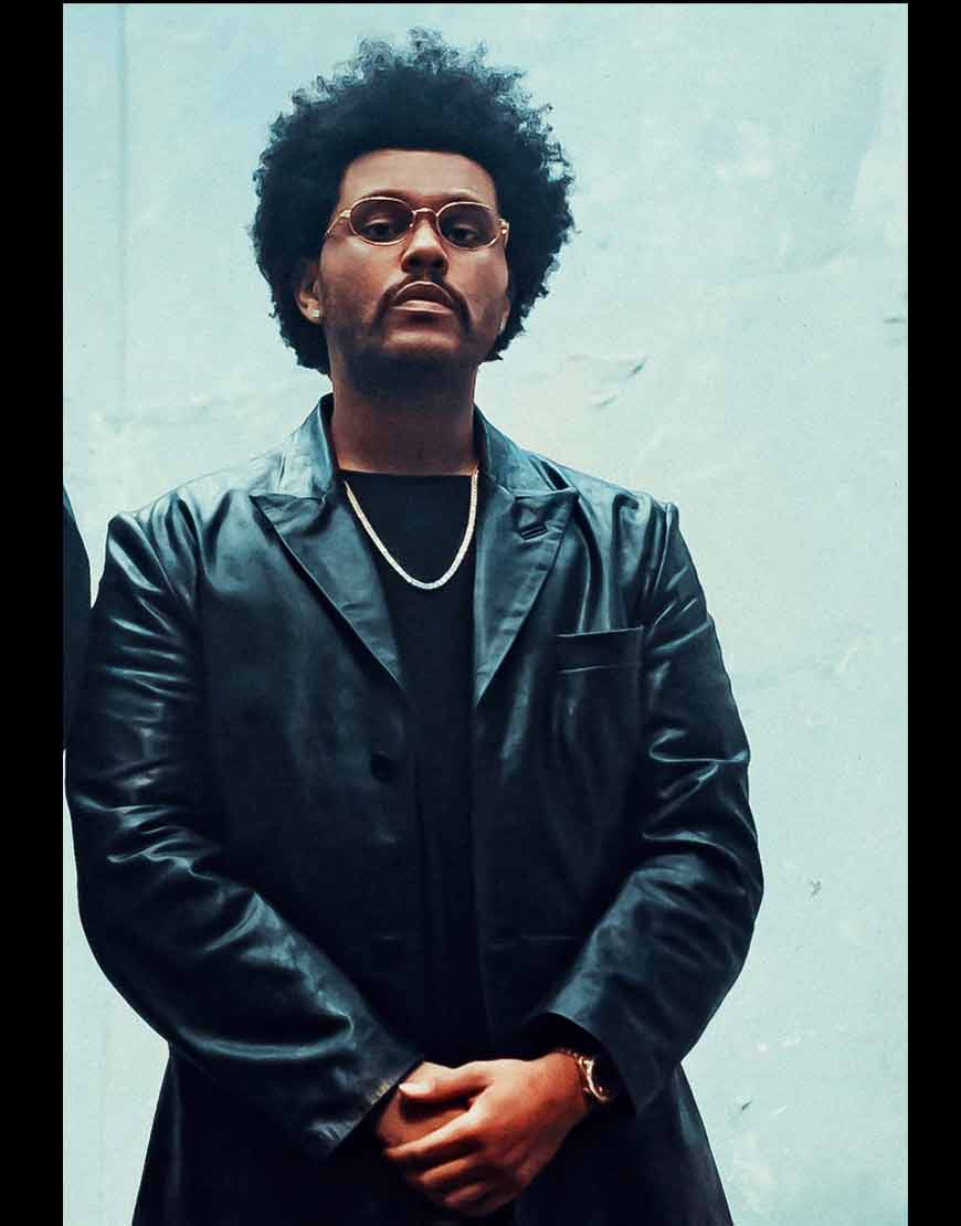Maluma-Hawái-Remix-The-Weeknd-Black-Leather-Jacket
