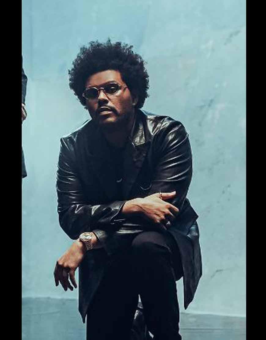 Maluma-Hawái-Remix-The-Weeknd-Leather-Jacket