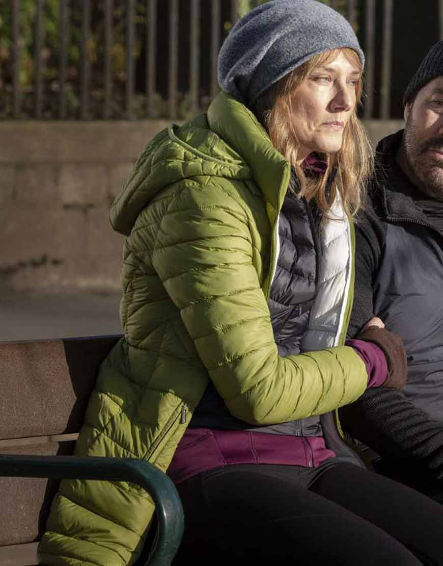 My-dads-Christmas-Nathalie-Cox-Green-Puffer-Jacket