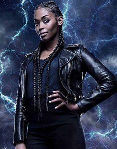 Nafessa-Williams-Black-Lightning-Thunder-Black-Leather-Jacket