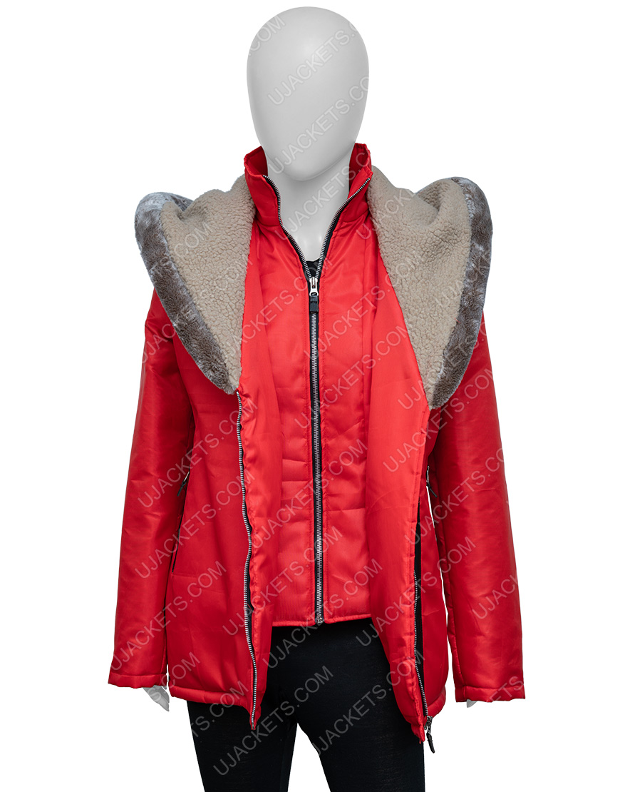 Natalie Hall Midnight At The Magnolia Maggie Quinn Red Hooded Coat