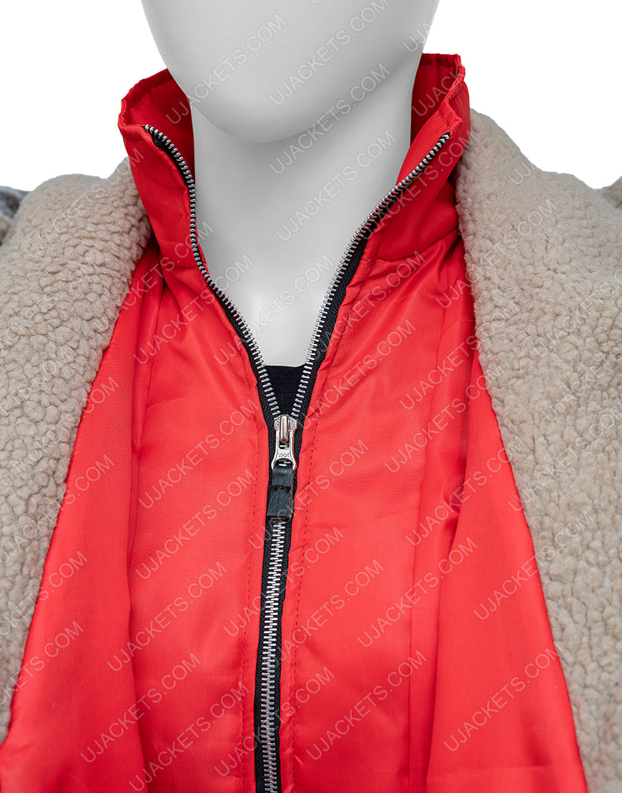 Natalie Hall Midnight At The Magnolia Red Hooded Coat