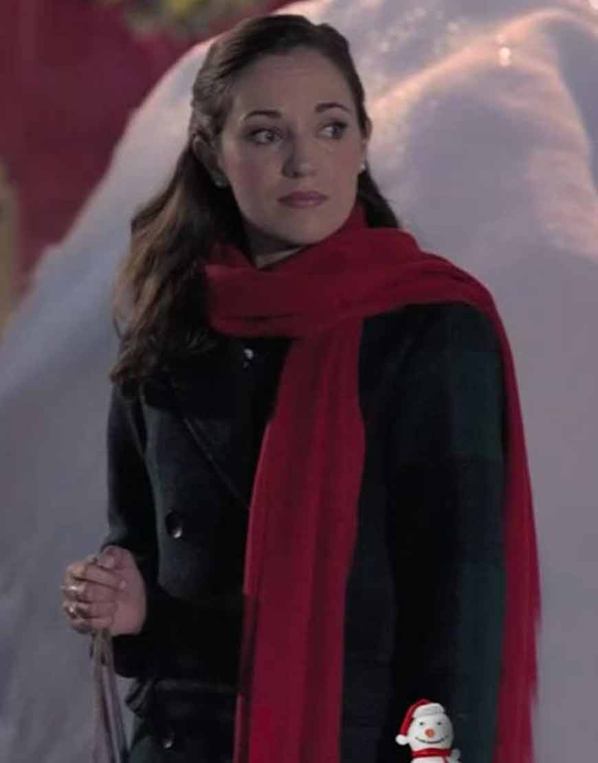 One-Royal-Holiday-Laura-Osnes-Black-Plaid-Coat