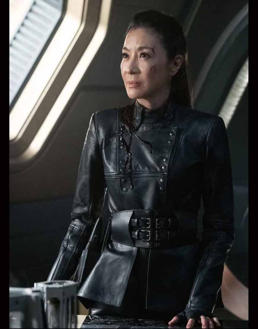 Philippa-Georgiou-Star-Trek-Discovery-S03-Michelle-Yeoh-Black-Leather-Jacket