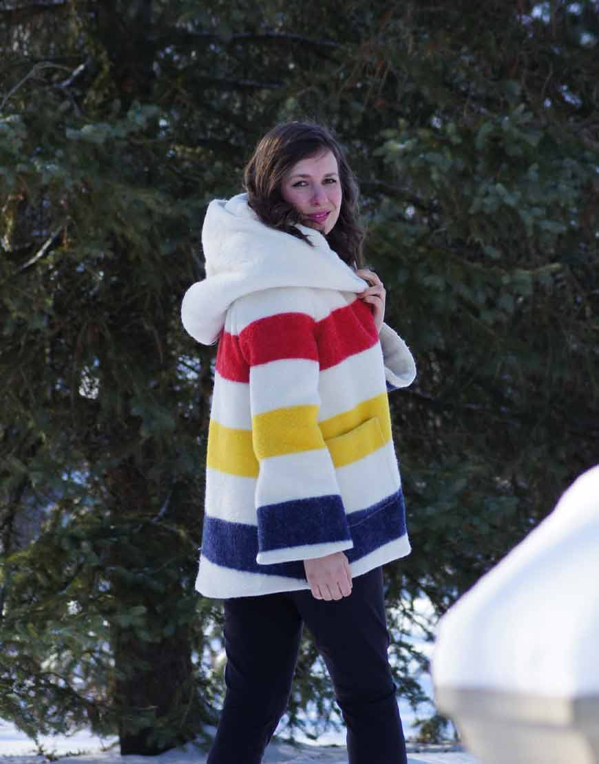Rachel-Bilson-Multi-Color-Wool-Blend-Blanket-Coat