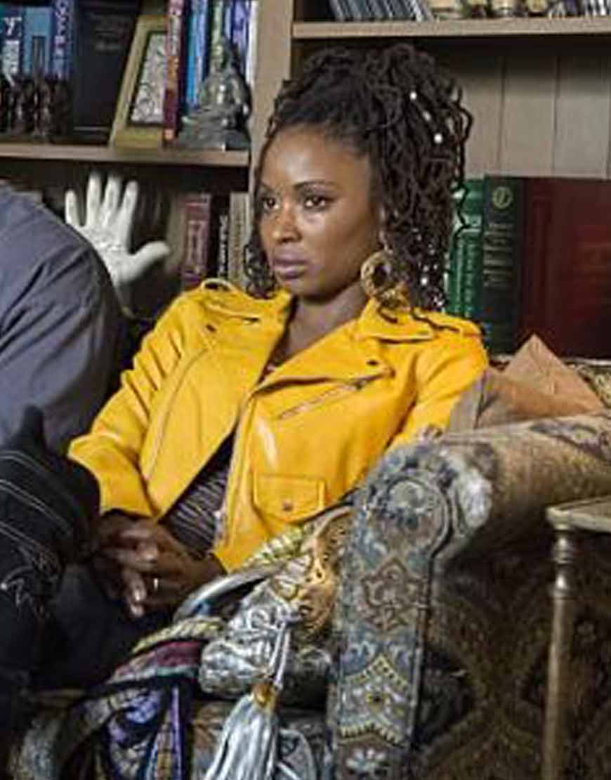 Shameless-Shanola-Hampton-Yellow-Jacket