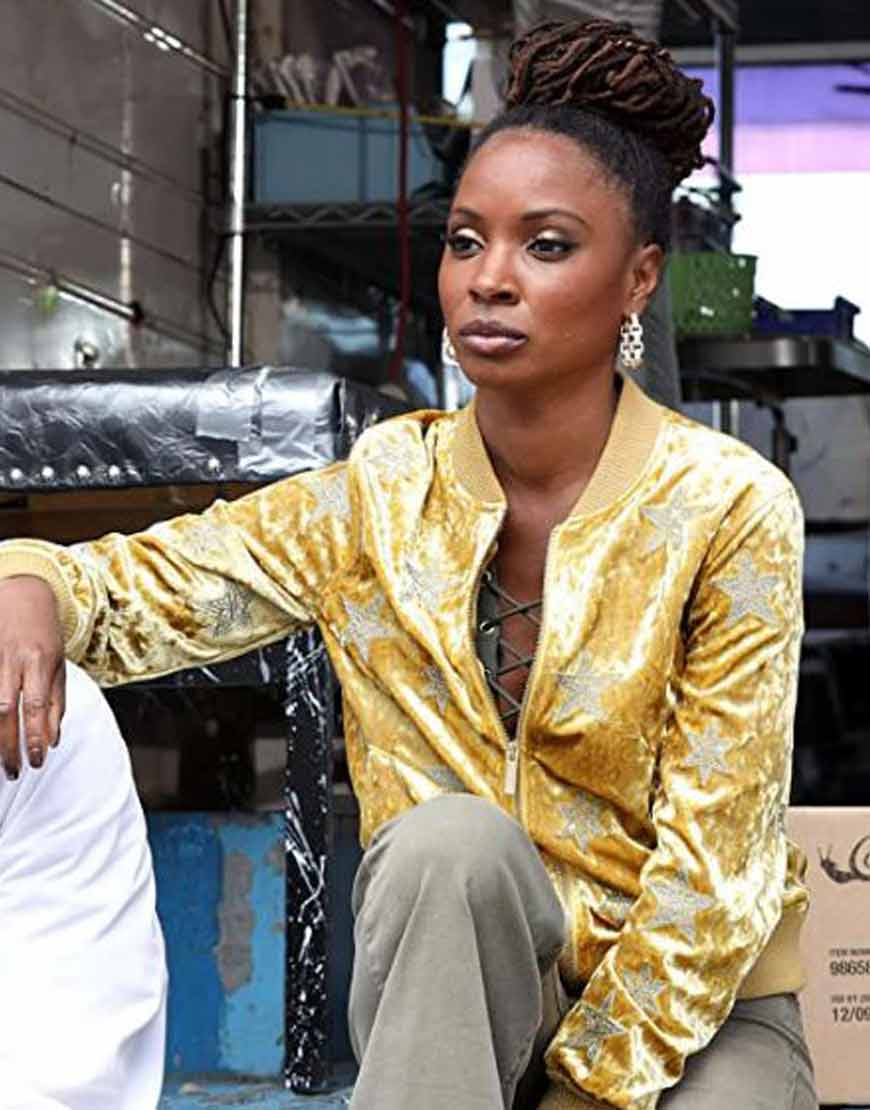 Shameless-Shanola-Hampton-Yellow-Star-Jacket