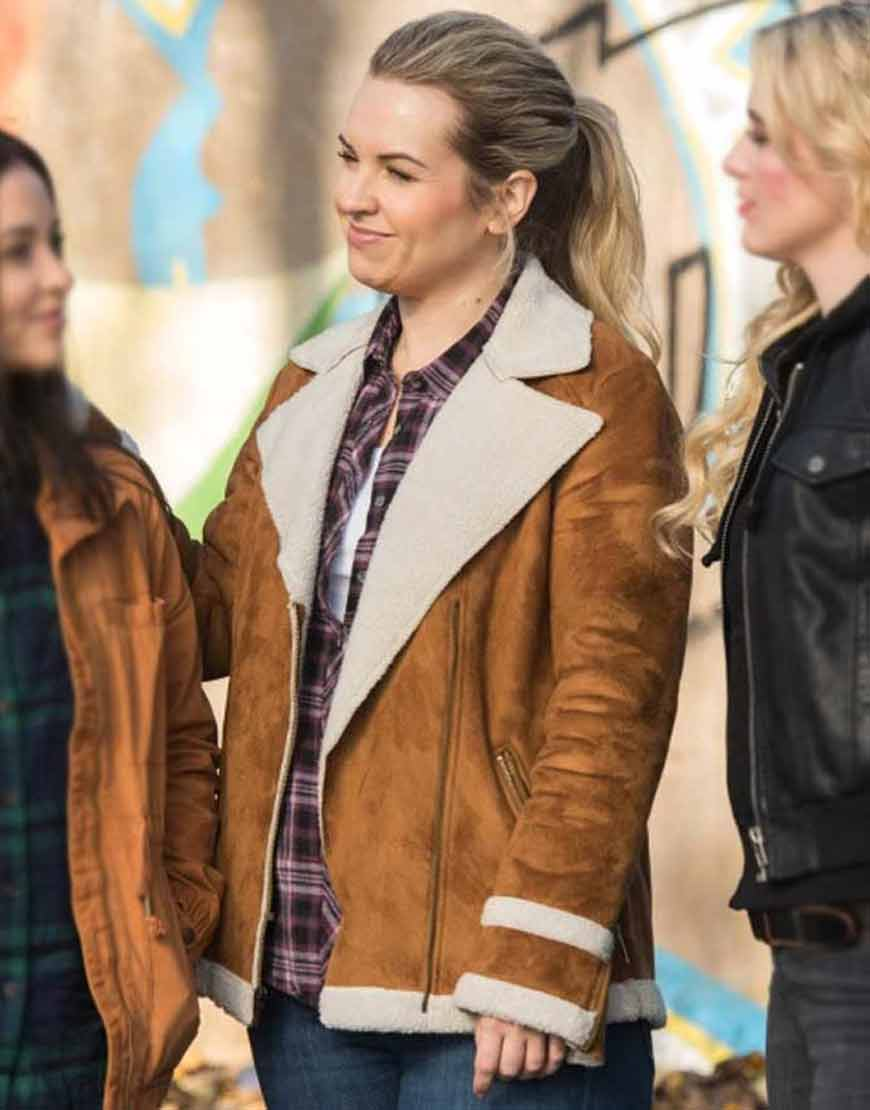 Supernatural-Donna-Hanscum-Brown-Shearling-Jacket