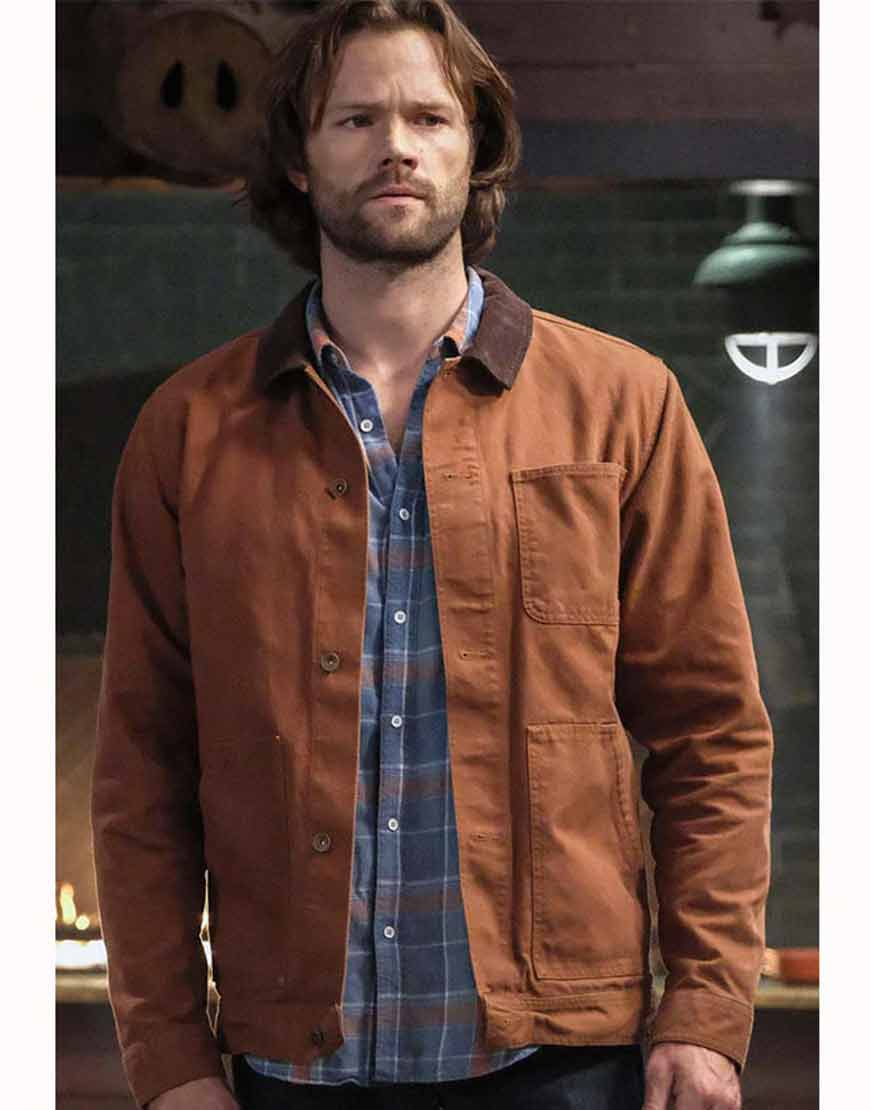 Supernatural-Season-15-Jared-Padalecki-Brown-Cotton-Jacket
