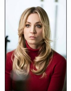 The-Flight-Attendant-Kaley-Cuoco-Maroon-sweater