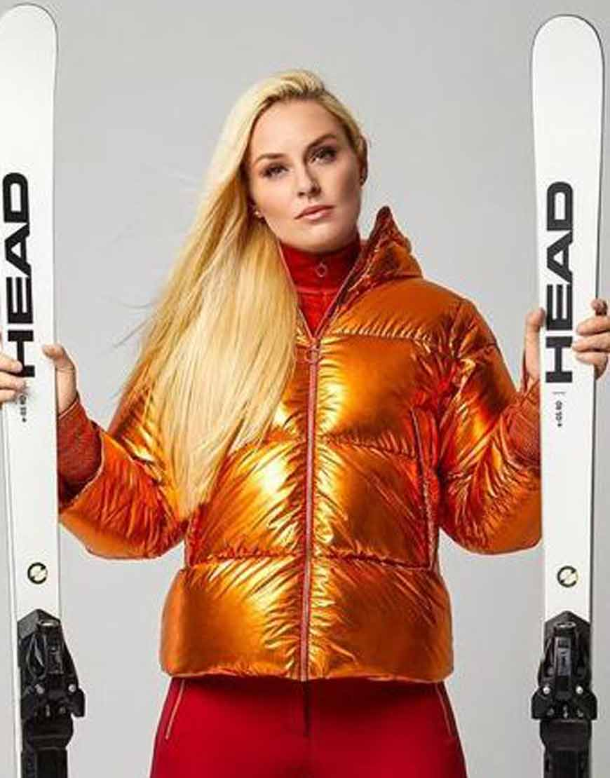 The-Pack-Lindsey-Vonn-Puffer-Golden-Jacket