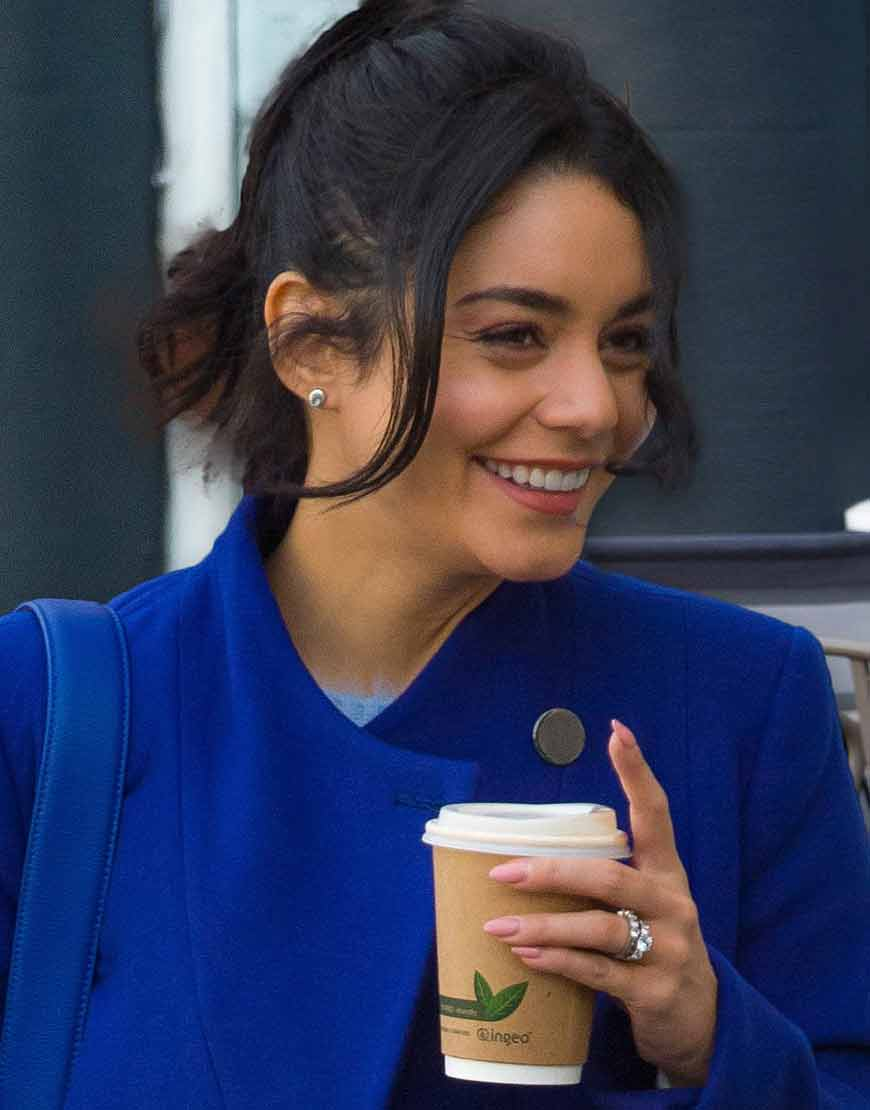 The-Princess-Switch-Switched-Again-Vanessa-Hudgens-Blue-Woolen-Coat