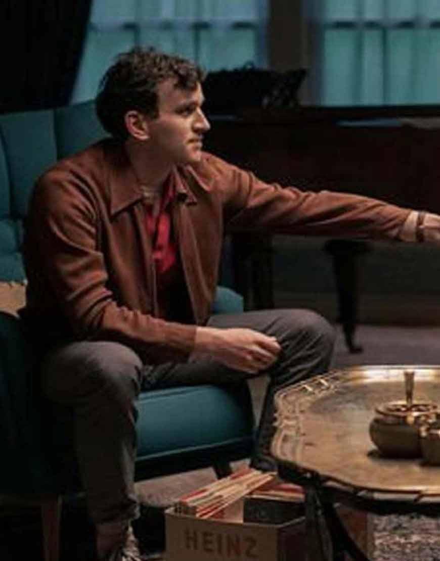 The-Queens-Gambit-Harry-Beltik-Brown-Leather-Jacket