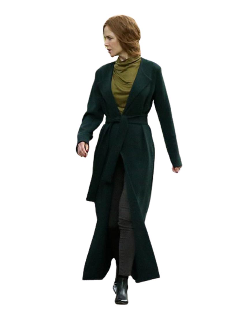 The Undoing Nicole Kidman Green Long Trench Coat