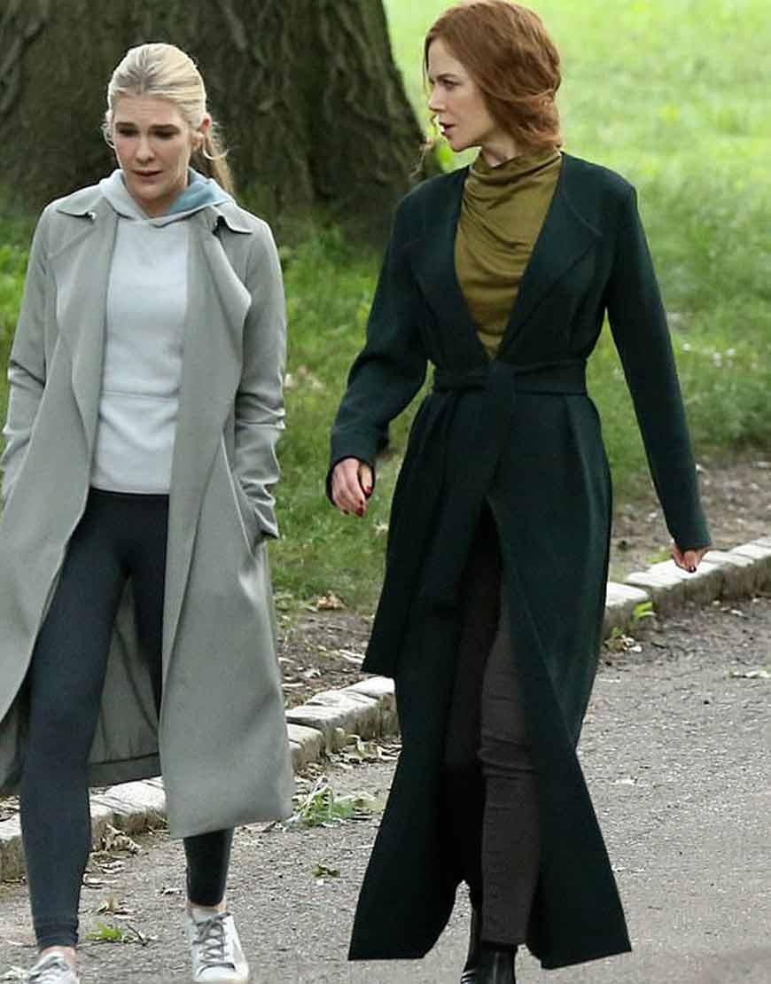 The-Undoing-Nicole-Kidman-Long-Green-Trench-coat