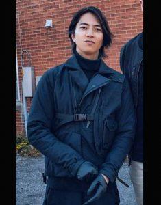 U-The-Man-from-Toronto-Tomohisa-Yamashita-Black-Leather--Jacket