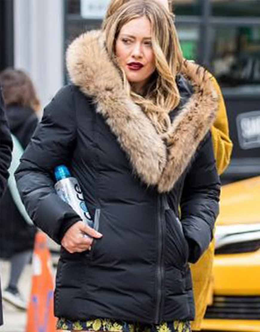 Younger-Hilary-Duff-Black-Jacket-Fur-Collar