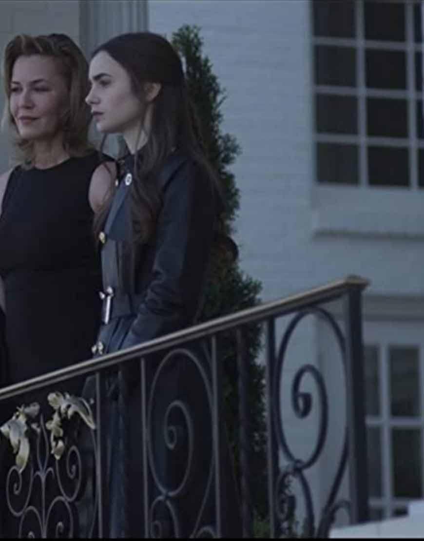 lily-collins-inheritance-lauren-monroe-black-coat