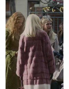 the-undoing-janel-moloney-purple-fur-coat