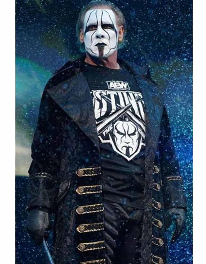 AEW-Steve-Borden-Sting-Wrestler-Black-Long-Coat