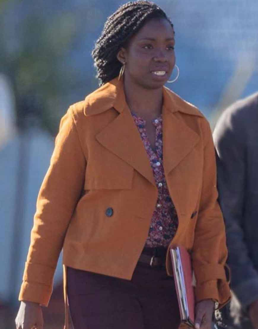 Adepero-Oduye-The-Falcon-And-The-Winter-Soldier-Brown-Cotton-Jacket