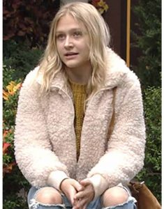 Alyvia-Alyn-Lind-The-Young-and-the-Restless-Faith-Newman-Sherpa-Jacket