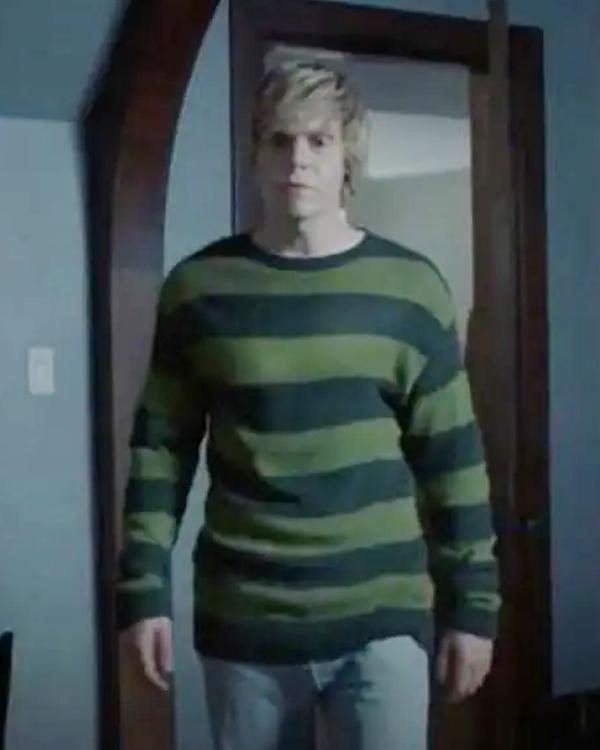 American Horror Story Striped Green & Black Tate Langdon Sweater