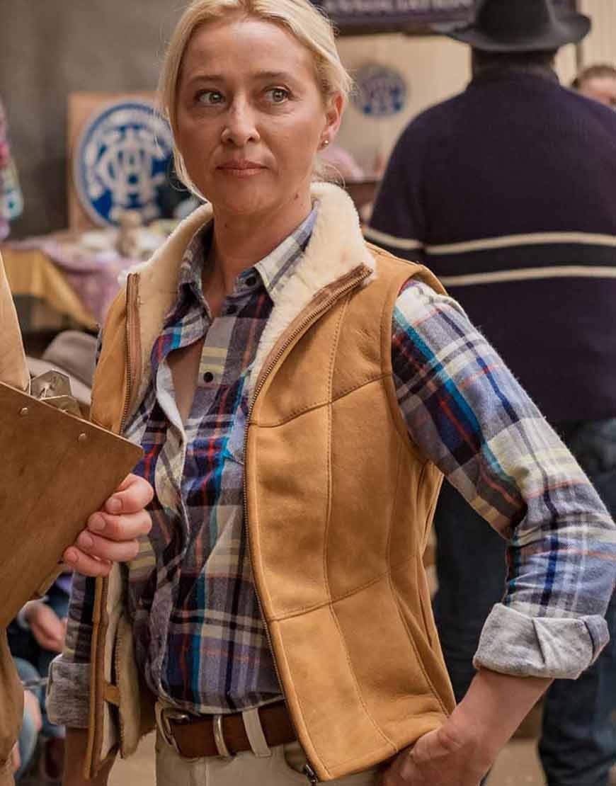 Angela-Rams-2020-Asher-Keddie-Brown-Suede-Leather-Vest