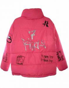 Ariana-Grande-7-Rings-Pink-Puffer-Jacket