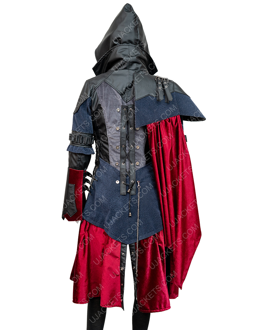 Assassin's Creed Syndicate Evie Frye Black Leather Coat